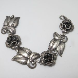 Jewelry - Detailed Floral Vintage Sterling Bracelet-Final